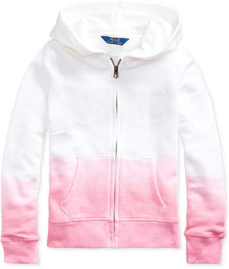Polo Ralph Lauren Big Girls Dip-Dyed French Terry Hoodie
