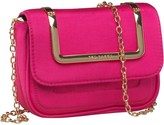 Ted Baker Womens Raula Metal Handle Mini Xbody Clutch Bag Bright Pink