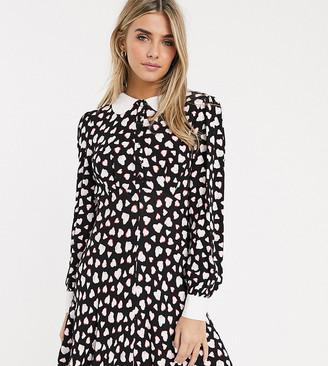 Ghost exclusive Gemma hearts mini dress-Black