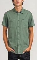 RVCA Men's Steady Pigment Short Sleeve Woven Shirt