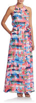 Jessica Simpson Floral Stripe Maxi Dress