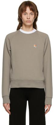 MAISON KITSUNÉ Grey Fox Head Sweatshirt