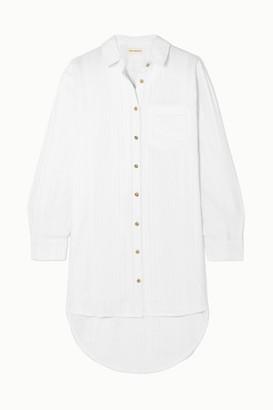 Mara Hoffman Bennett Oversized Organic Cotton-voile Shirt - White