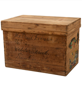 Rejuvenation Tin-Lined Japanese Tea Crate w/ Paper Label II