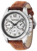 Timberland Smithfield Men's Quartz Watch with Grey Dial Analogue Display and Orange Leather Strap 14769JS/13