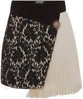 Fausto Puglisi Asymmetrical Dual Fabric Skirt