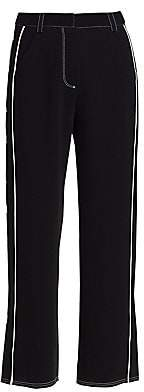 Cinq à Sept Women's Tatum Western Embroidered Ankle Trousers - Size 0