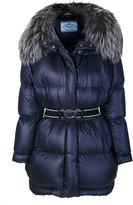 Prada oversized hooded padded jacket