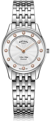 Rotary Watches Rotary Womens Silver Ultra Slim Watch