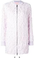 Giamba frayed elongated bomber jacket - women - Cupro/Viscose/Wool/Polyimide - 44