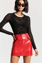 Forever 21 Faux Patent Leather Mini Skirt