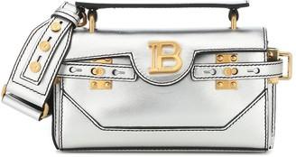 Balmain Bbuzz 19 metallic leather shoulder bag
