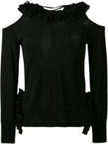 Ermanno Scervino cold shoulder top - women - Polyamide/Polyester/Viscose - 40
