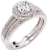 Rina Limor Fine Jewelry Women's 3/8 CT Diamond Halo 10k White Gold Ring