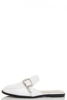 Quiz White Buckle Slipper Pumps