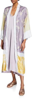 Forte Forte Bougainvillea Open-Front Twill Long Kimono