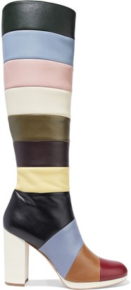 Valentino Striped Leather Boots