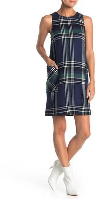 Susina Plaid Sleeveless Shift Dress (Regular & Petite)