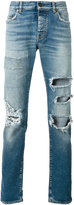 Saint Laurent distressed high-waist jeans