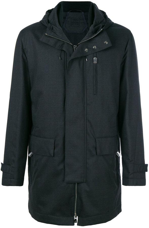 Corneliani hooded padded jacket