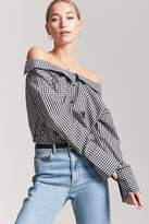 Forever 21 Gingham Off-the-Shoulder Shirt