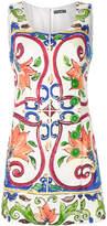 Dolce & Gabbana Majolica print mini dress