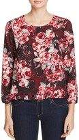 Cupcakes And Cashmere Bentley Floral Print Blouse