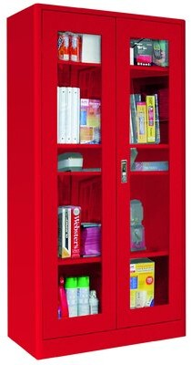 URBAN RESEARCH Elite Radius Edge 2 Storage Cabinet Sandusky Cabinets Color: Red