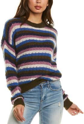 Closed Open Knit Trim Mohair & Wool-Blend Sweater
