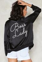 Nasty Gal nastygal Boss Lady Satin Bomber Jacket
