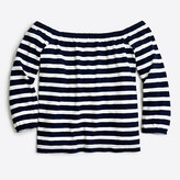 J.Crew Factory Striped off-the-shoulder top
