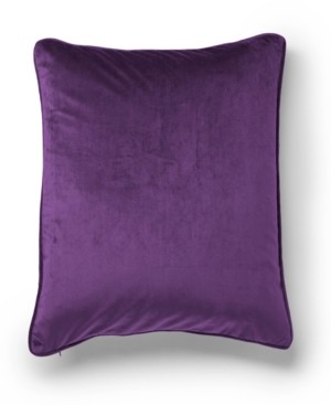 Protect A Bed Velvet Color Block Decorative Throw Pillow