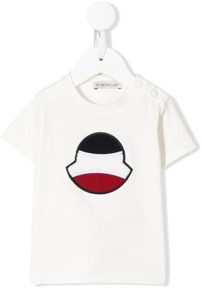 Moncler Enfant logo patch crew neck T-shirt