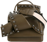 No.21 studded knot cross-body bag - women - Leather/Suede - One Size