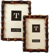 Twos Company Two's Company Bamboo Photo Frames, Set of 2