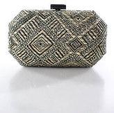 Sondra Roberts Beige Silver Rhinestone Chain Strap Small Evening Handbag