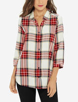 The Limited Plaid Side Slit Tunic
