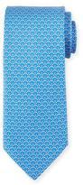 Salvatore Ferragamo Micro-Golf Patterned Silk Tie, Blue