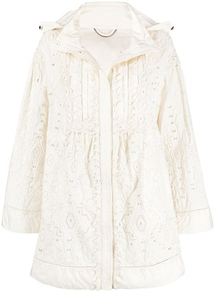 Ermanno Scervino Broderie Anglais Hooded Coat