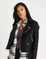 American Eagle Outfitters AE Faux-Leather Moto Jacket