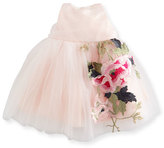 Zoë Ltd Sleeveless Embroidered Tulle Dress, Pink/Multicolor, Size 12-24 Months