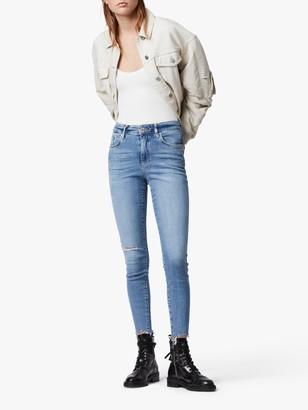 AllSaints Phoenix Ultra High Rise Super Stretch Skinny Jeans, Royal Blue