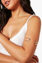 boohoo Layla Hamsa And Eye 2 Pack Arm Cuff