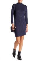 Bobeau Mock Neck Dress (Petite)