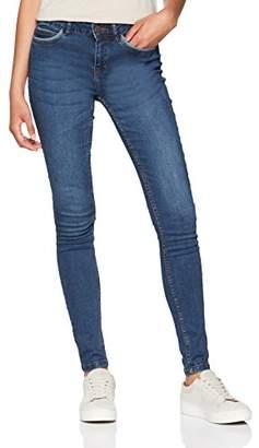 Noisy May Women's Nmlucy Nw Pckt Piping Jeans Vi877db Noos Slim Dark Blue Denim, W30/L32
