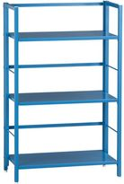 Crate & Barrel Pop Up Aqua Folding Three-Shelf Bookcase