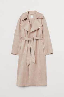 H&M Imitation suede coat