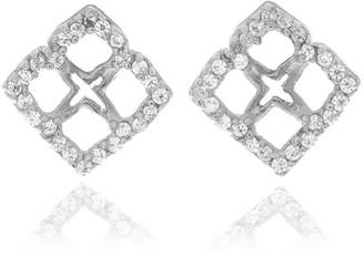 Georgina Jewelry Silver Signature Mini Flower Diamond Earrings