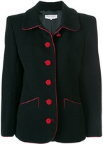 Saint Laurent Pre Owned contrast stitching blazer