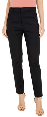 Lauren Ralph Lauren Stretch Cotton Blend Pants (Polo Black) Women's Casual Pants